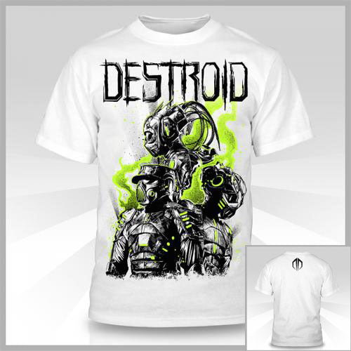 EXCISION -Destroid 3UP- White GLOW T-Shirt