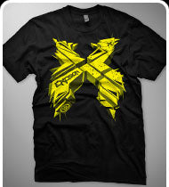 EXCISION -3DX- T-Shirt - Black w/ Yellow Print