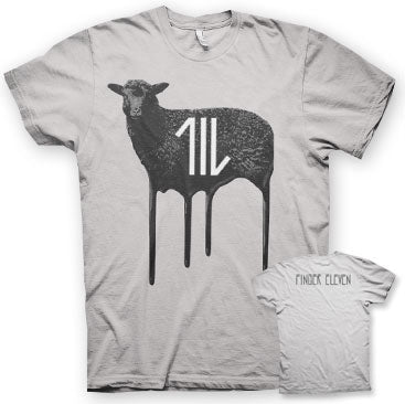 FINGER 11 - Wolves and Doors - Silver T-Shirt