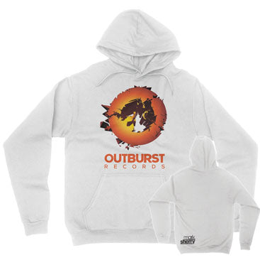 Mark Sherry - Outburst Records - White Unisex Pullover Hoodie