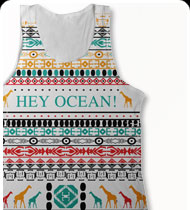 HEY OCEAN -Hieroglyphic- Tank Top - White