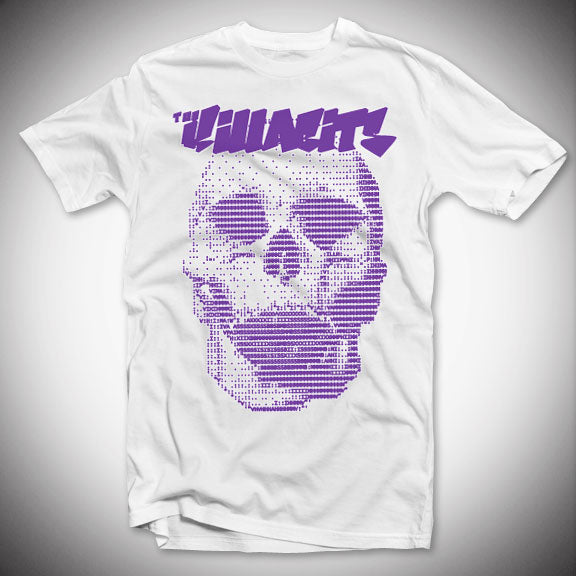 THE KILLABITS Purple Skull T-Shirt - White