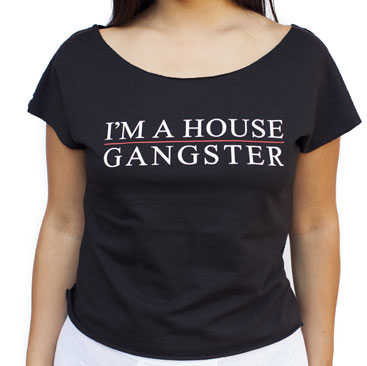 IAHG -I'm A House Gangster- Off-The-Sholder Crop Tee