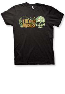 The Dead Daisies - Flower Skull - Premium Black Tee