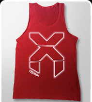 $20!!! EXCISION -X-Blur- Tank Top - Red