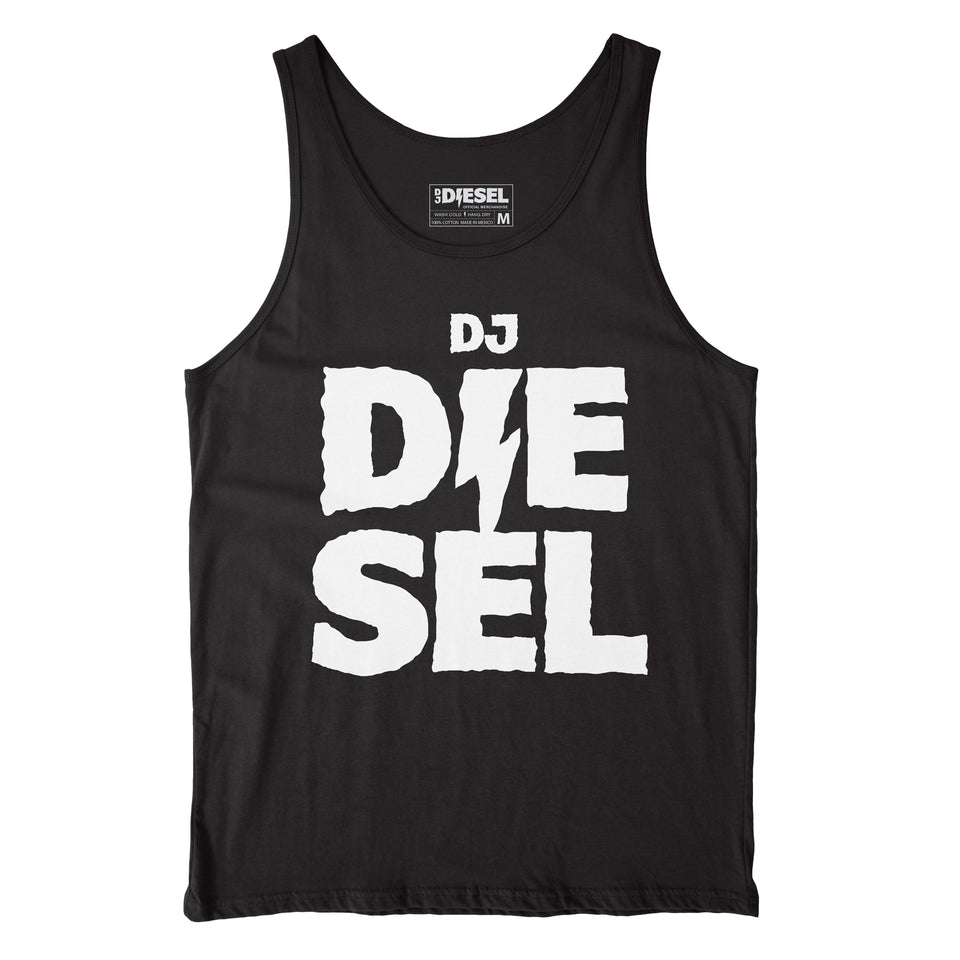 DJ DIESEL - Stacked - Black Tank Top