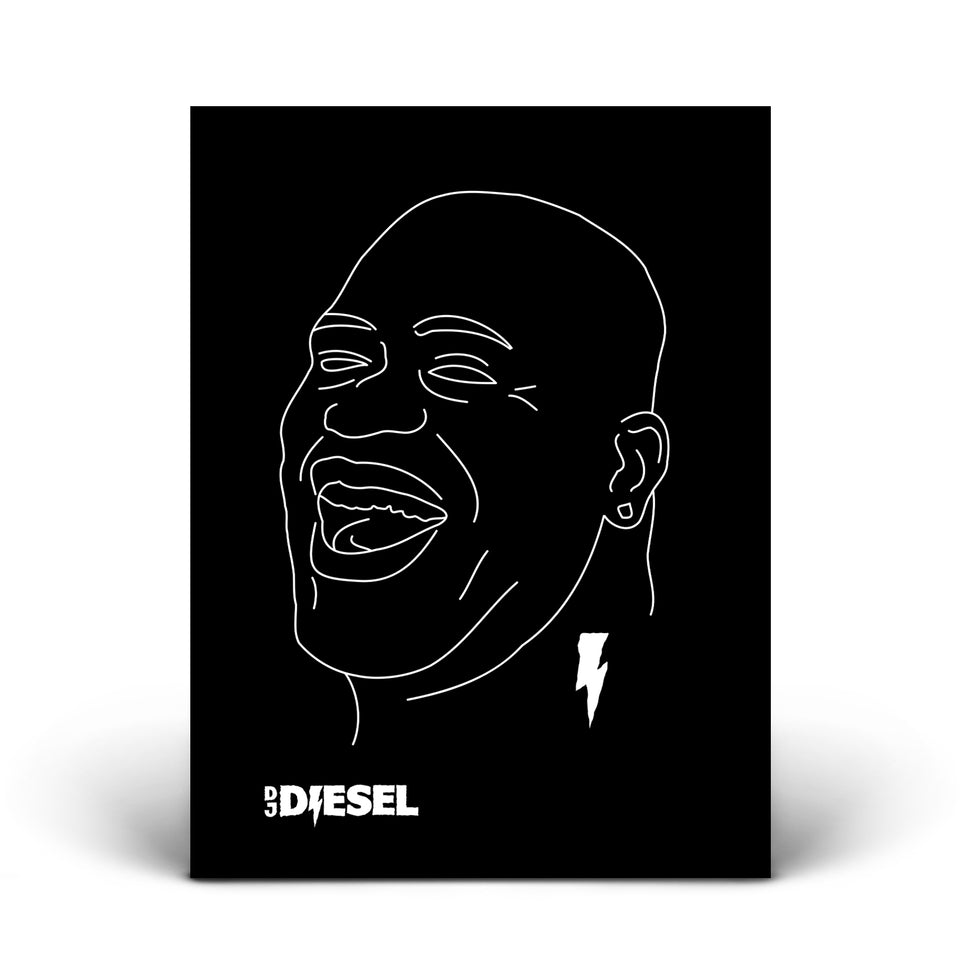 AUTOGRAPHED - DJ DIESEL - Bass Driver - Poster