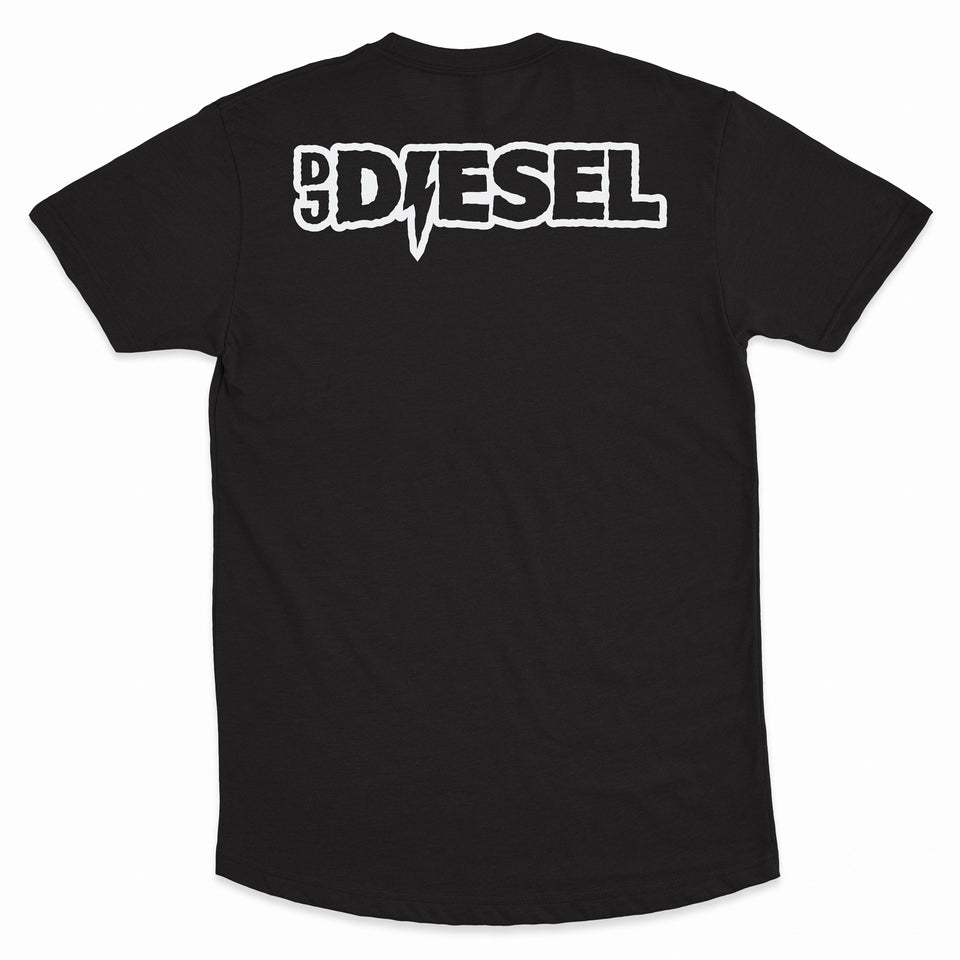DJ DIESEL - Bass Driver - Long Tee - Black