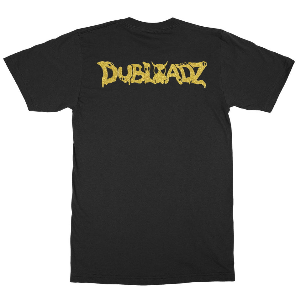 Dubloadz - Devil Ghost - Black Tee w/ Gold Foil Print