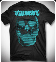 THE KILLABITS Teal Skull T-Shirt - Black