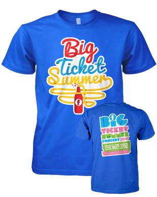 Big Ticket Summer 2015 - Soda Pop - Blue T-Shirt