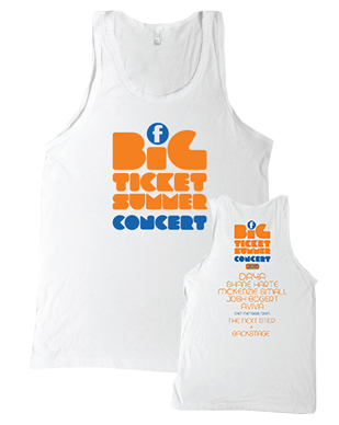 Big Ticket Summer Concert 2016 - Logo - White Tank Top