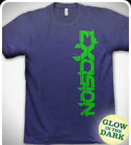 GLOW IN THE DARK - EXCISION -Up & Down- T-Shirt - Purple