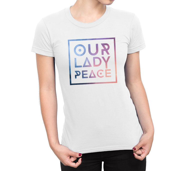 Our Lady Peace - Boxed In Ladies Tee - White