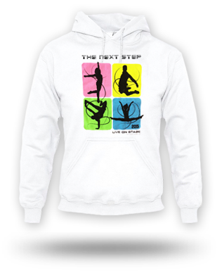 The Next Step 2015 Tour Square Dance Pullover Hoodie: White