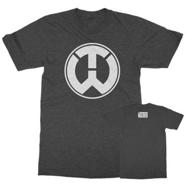 The Werks TW Logo Tee - Heather Charcoal