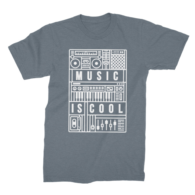 DAVE - Music Is Cool Tee - Indigo