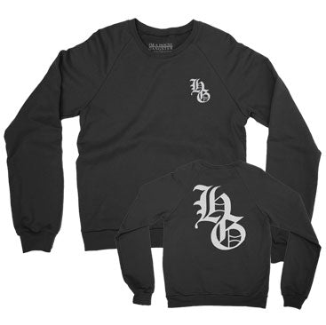 IAHG -Big HG- Black Crewneck