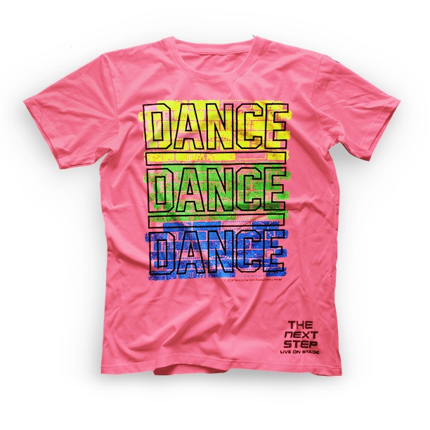The Next Step 2015 Tour Dance Dance T-Shirt: Neon Pink