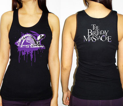THE BIRTHDAY MASSACRE X-Ray Bunny Tank Top - Black