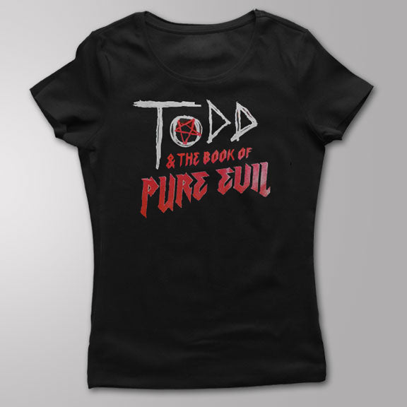 TODD and THE BOOK OF PURE EVIL - Logo - GIRLS T-Shirt - Black