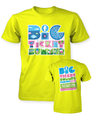 Big Ticket Summer 2015 - Logo - Yellow T-Shirt
