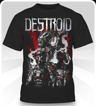 EXCISION -Destroid 3UP- Black T-Shirt