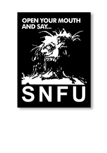 SNFU Open Your Mouth Sticker