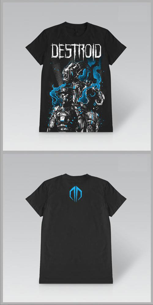 EXCISION -Destroid 3 UP- Girls Black T-Shirt