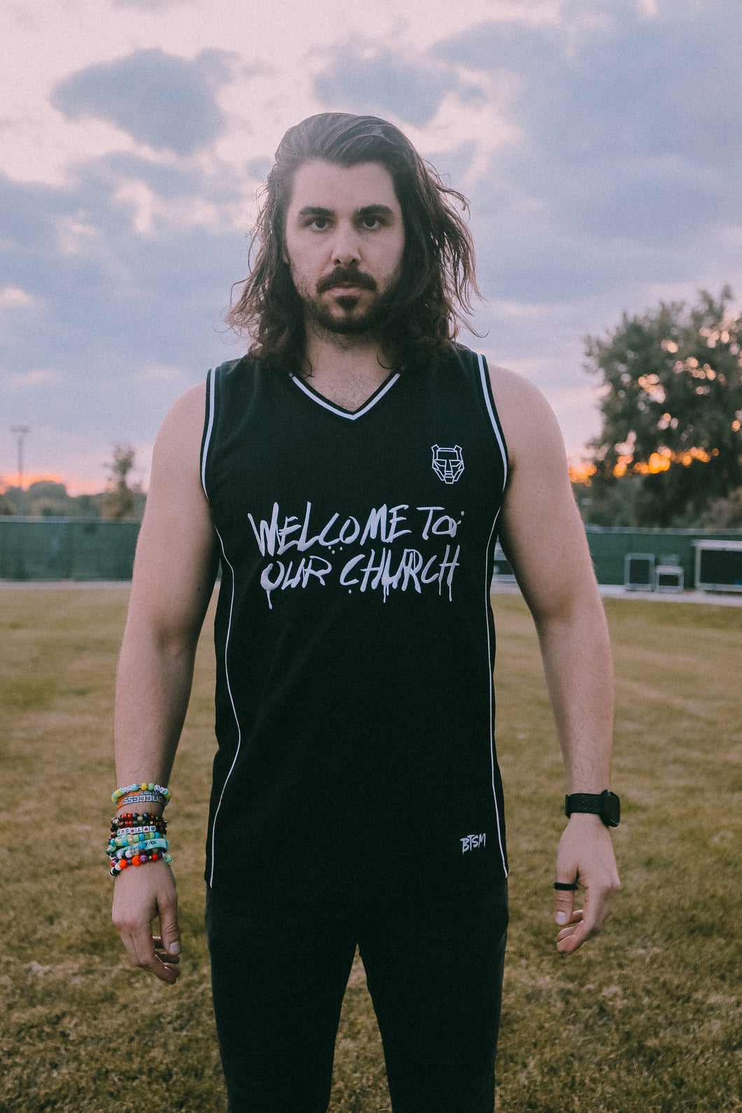 BTSM - Welcome To Our Church - Premium Basketball Jersey