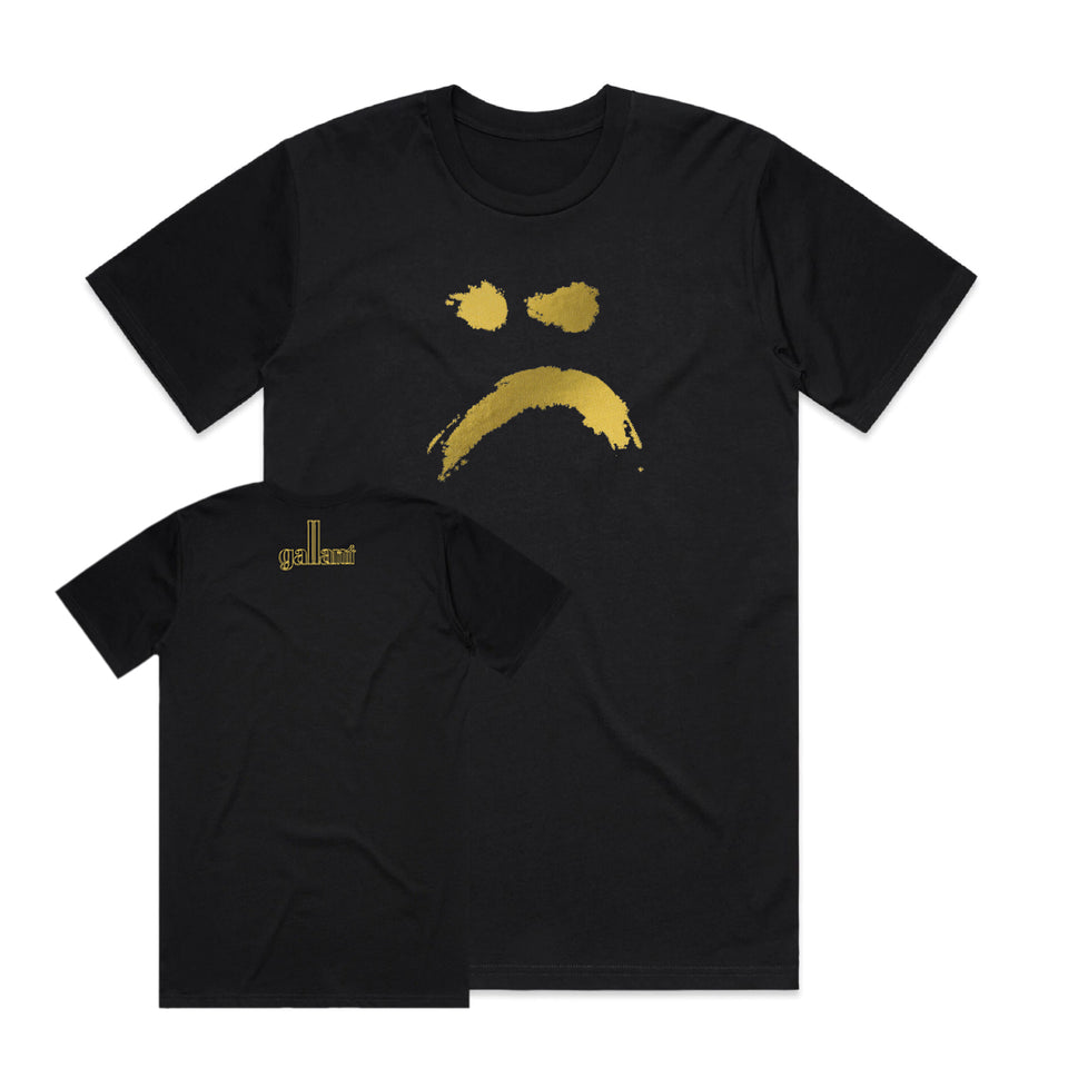 PRE ORDER - Gallant - Ology Gold Sad Face Tee (5th Anniversary Special Edition) Tee