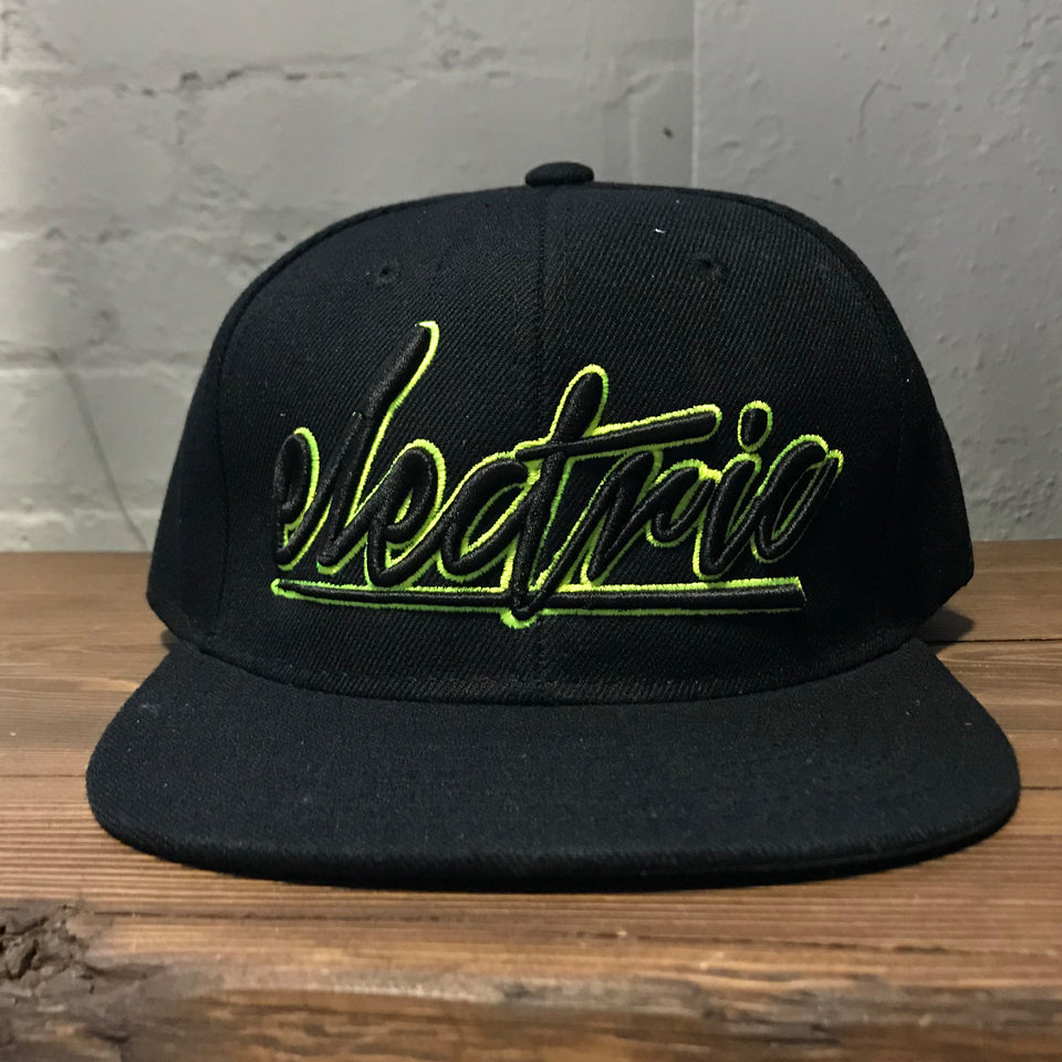 Gareth Emery - Electric - Black / Lime Green Snapback Hat