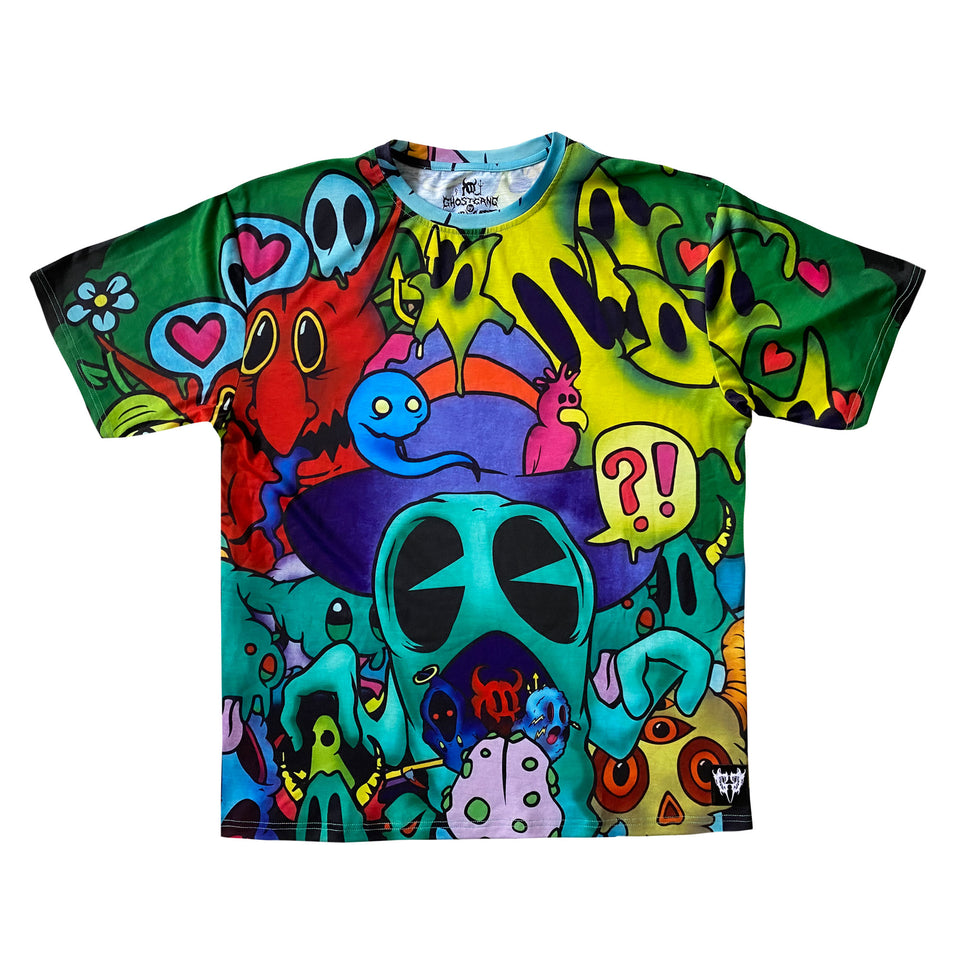 Ghostgang - Existential Meltdown - All Over Print Tee