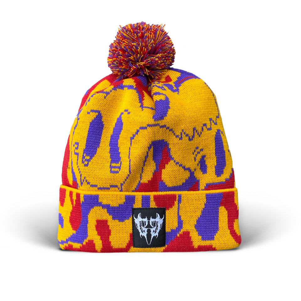 Ghostgang - Bipolar Acid Custom Knit Pom Pom Hat