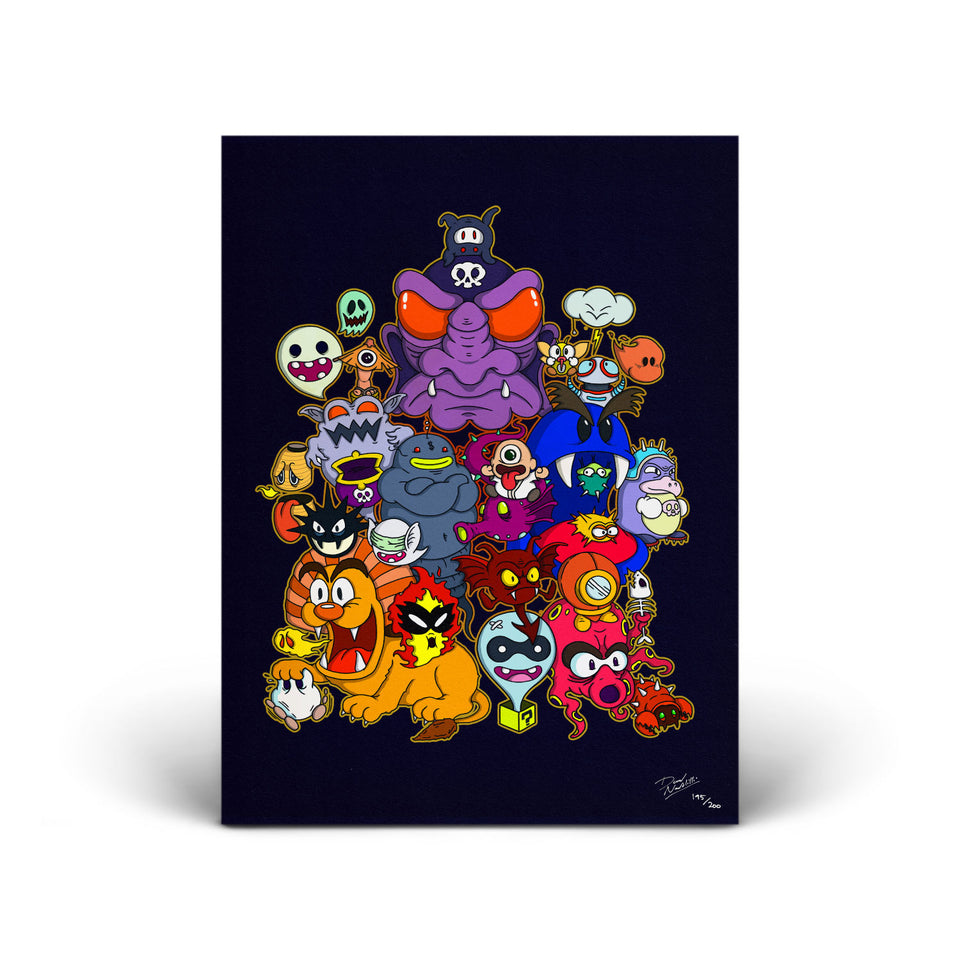 Ghostgang - Mario Rejects - Signed Print