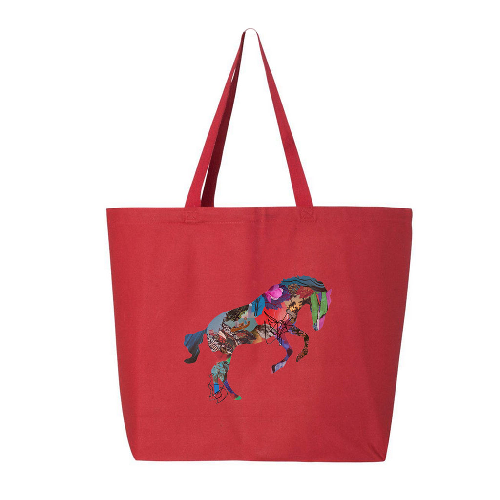 PRE ORDER - GIVERS - Horse - Jumbo Tote Bag - Red