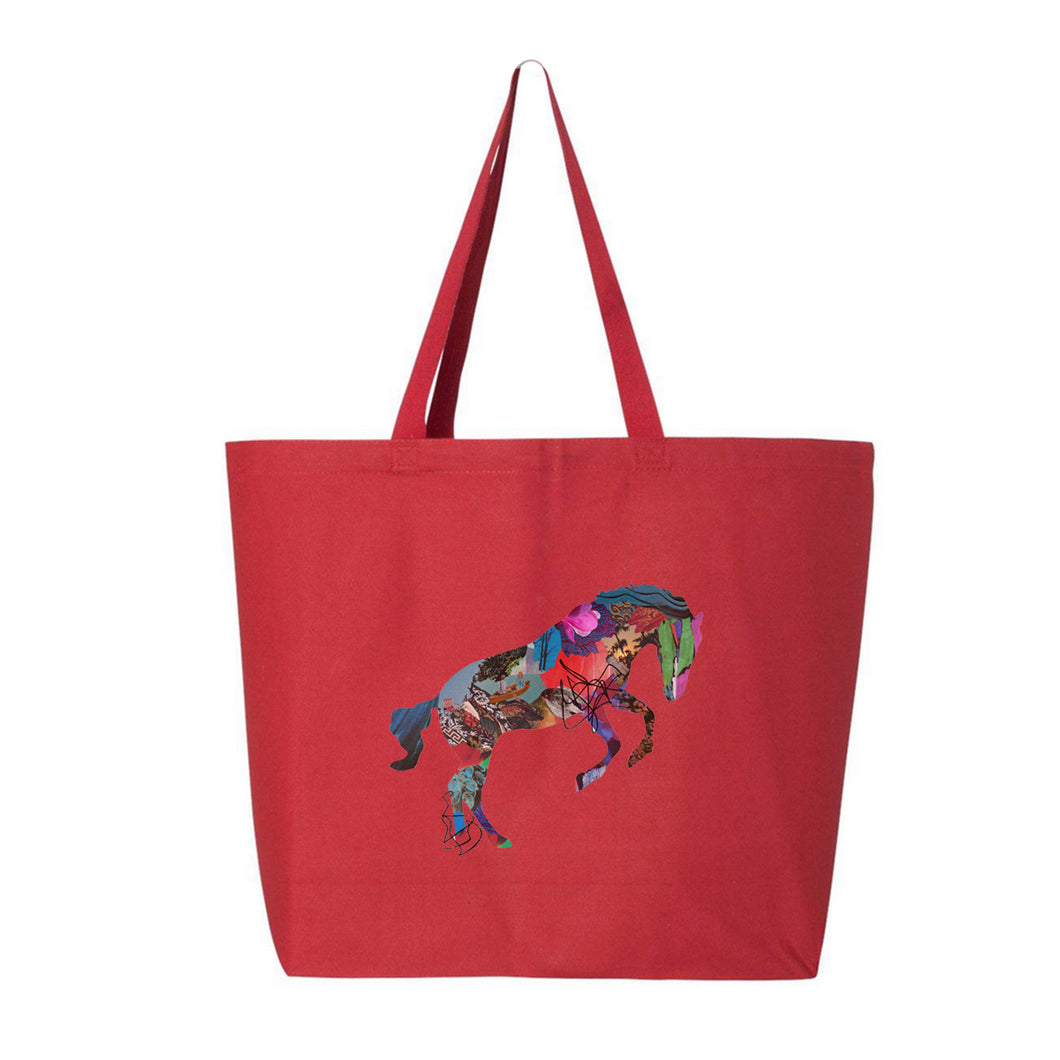 GIVERS - Horse - Jumbo Tote Bag - Red