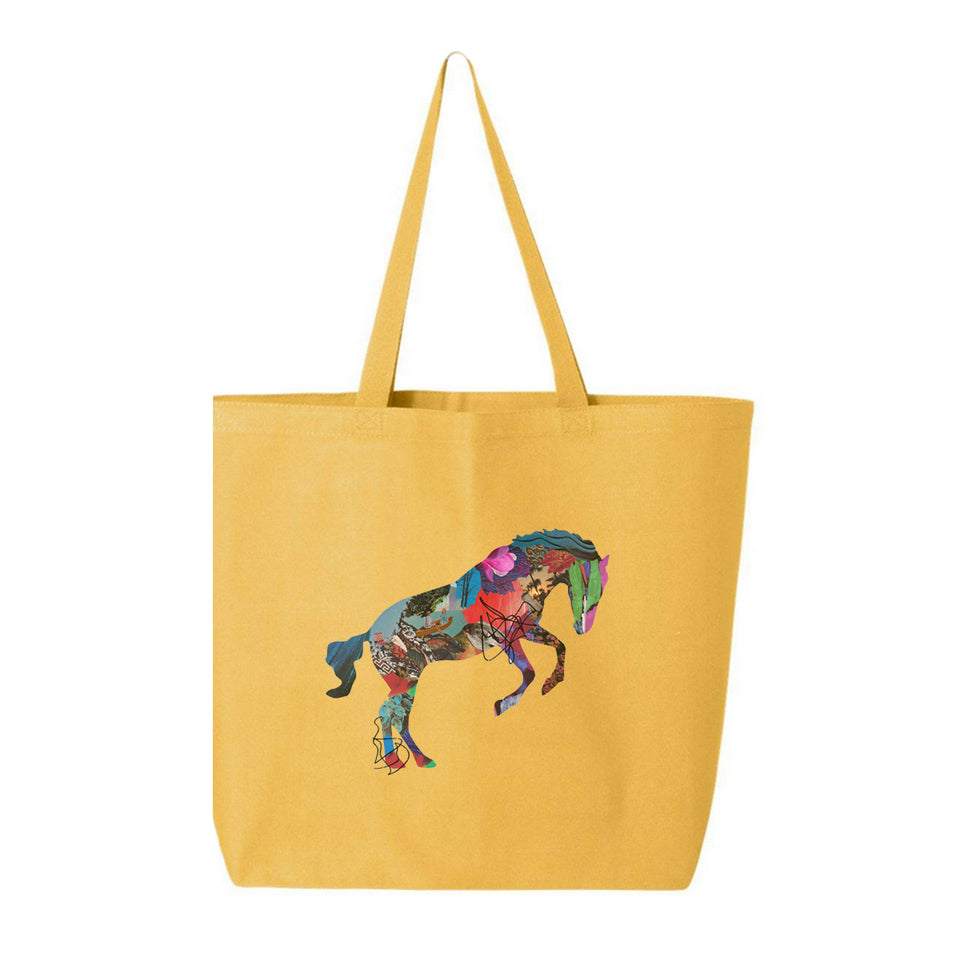 GIVERS - Horse - Jumbo Tote Bag - Yellow