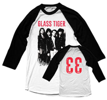 GLASS TIGER -33 - Vintage Raglan Shirt