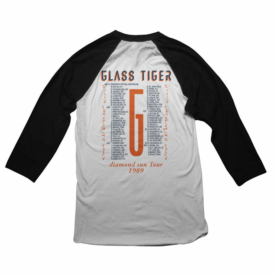 GLASS TIGER -Diamond Sun Tour- Vintage Raglan Shirt