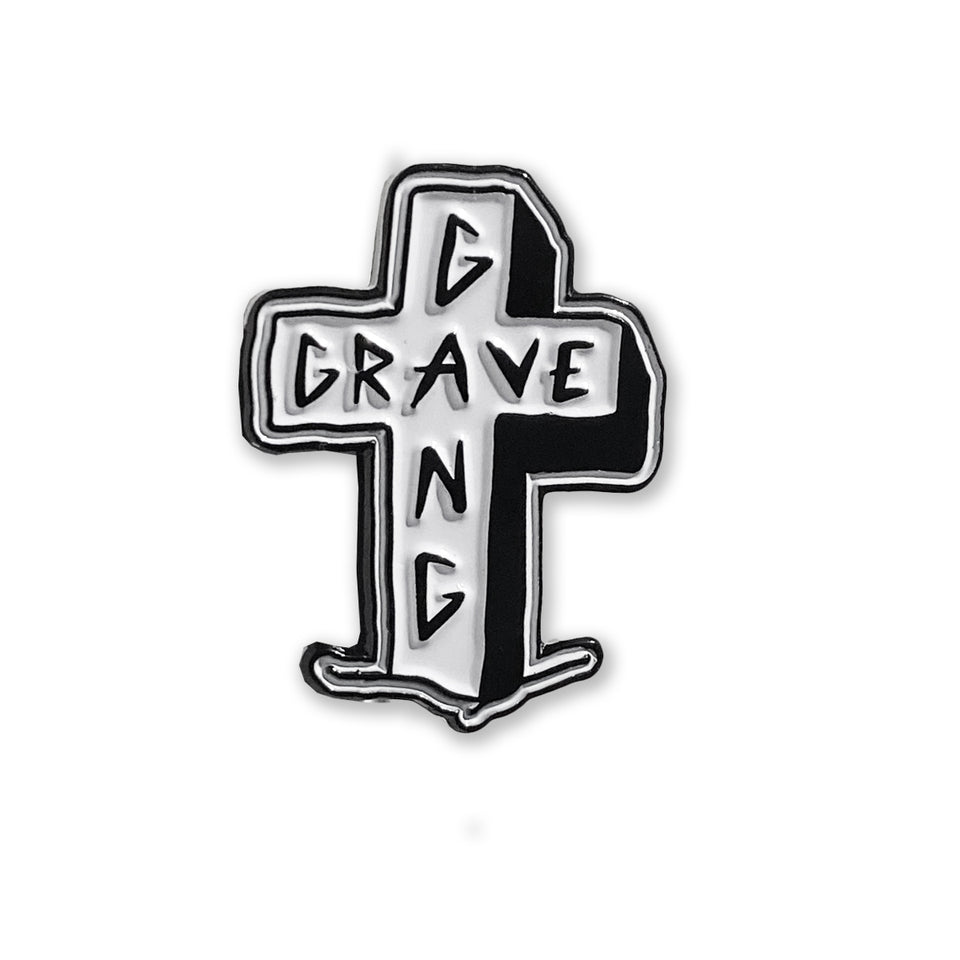 Grave Gang - Cross - Lapel Pin