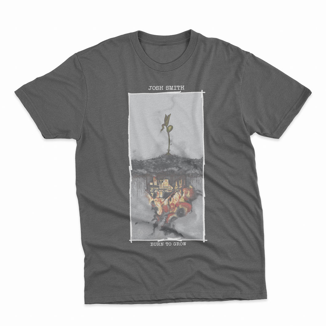 Josh Smith - Burn To Grow Charcoal Tee