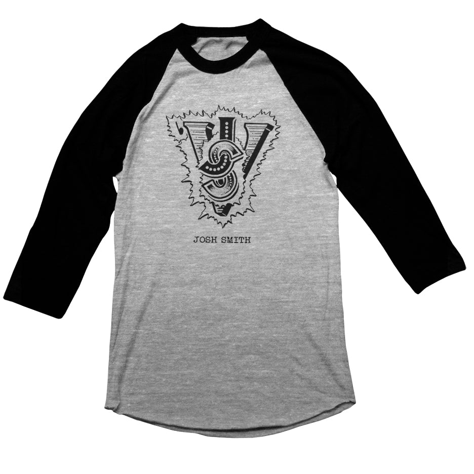 Josh Smith - Logo Black / Gray Raglan
