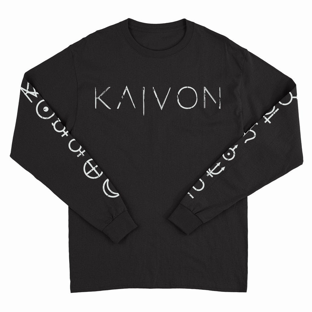 Kaivon - Planets - Black Long Sleeve Tee