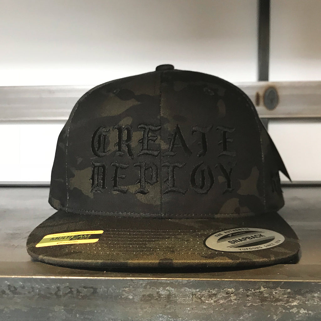 KT8 Apparel - Create And Deploy - Premium Camo Snapback