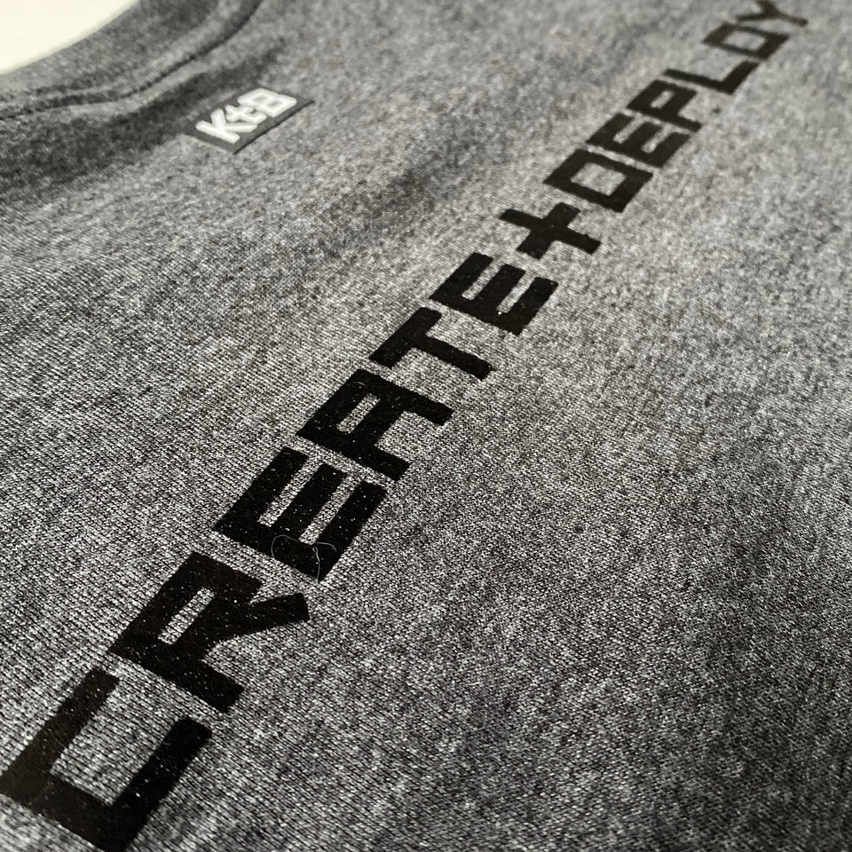 KT8 Apparel -Create And Deploy- Dark Heather Gray Tee