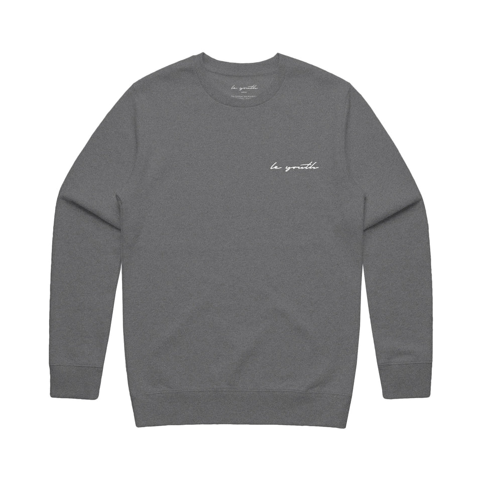 Le Youth - Signature Collection - Embroidered Logo Crew Sweatshirt