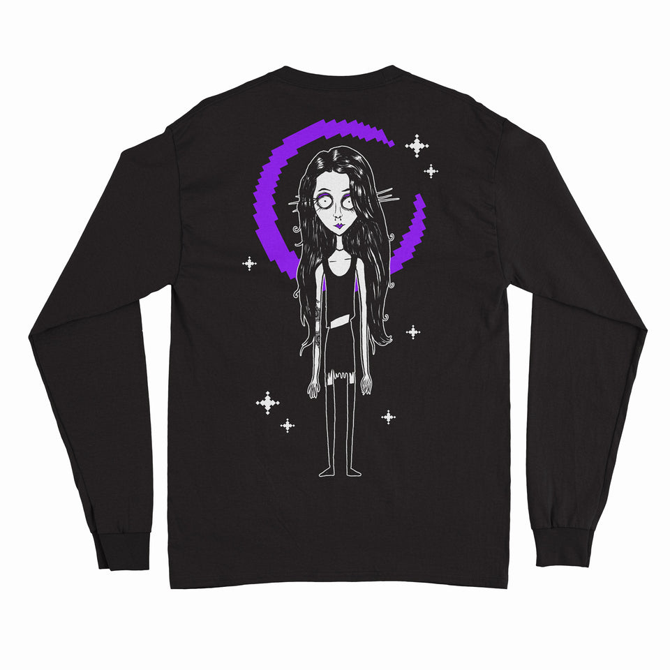 Level Up - Goth Girl -  Black Unisex Long Sleeve