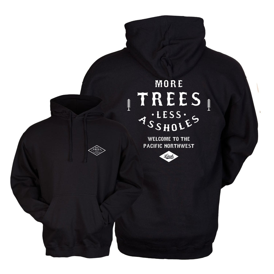 More Trees Co. - Classic Logo - Black Pullover Hoodie