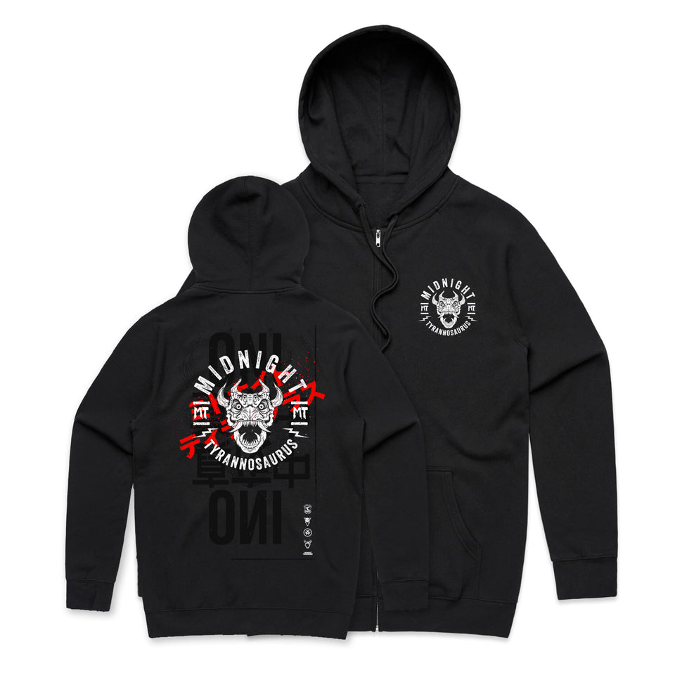 Midnight Tyrannosaurus - Onisaurus - Zip Up Hoodie